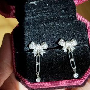 Jewelry - Platinum 950 14k natural diamonds earrings